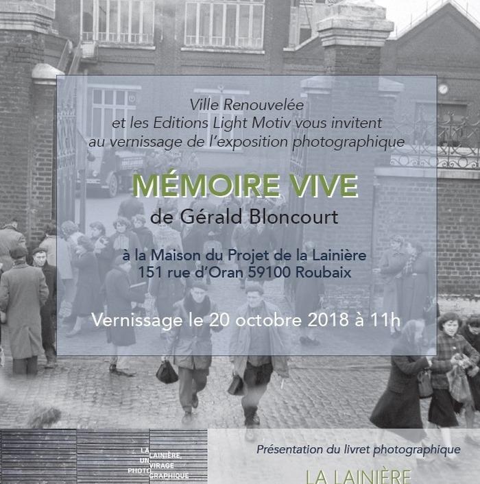 """""""Mémoire Vive"""" à la Lainière/ Visites guidées de l'exposition"""