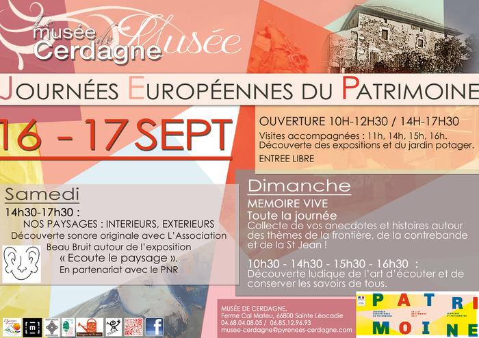 Journées du patrimoine 2017 - Mémoire vive