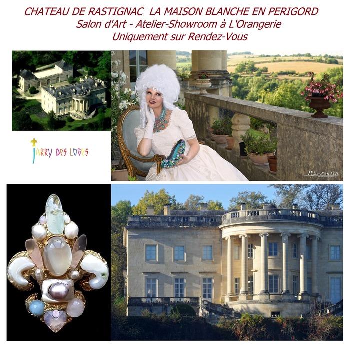 Journées du patrimoine 2018 - Michèle Jarry des Loges Artiste-Designer ouvre son Atelier-Showroom au Château de Rastignac - La Maison Blanche en Périgord