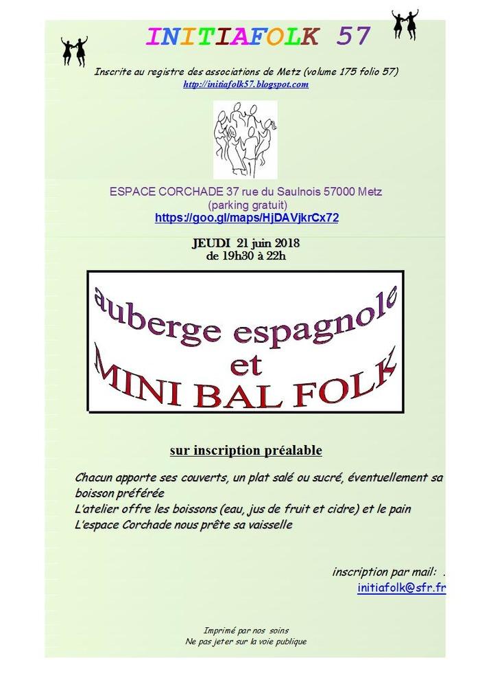 Mini bal folk avec auberge espagnole