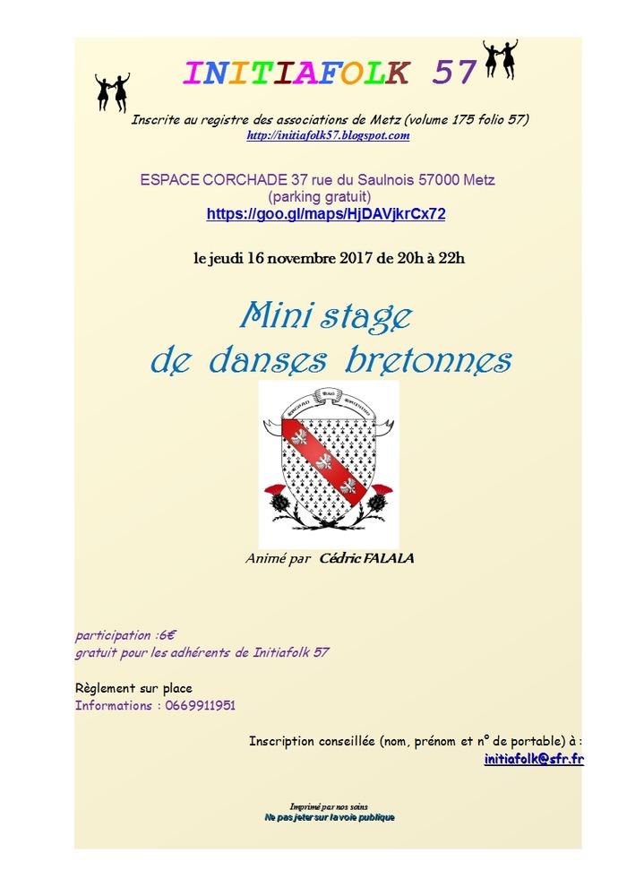 Mini stage de danses bretonnes