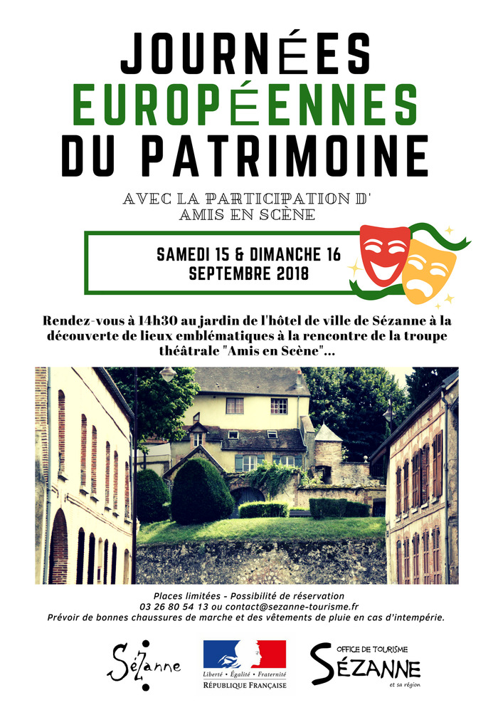 Journées du patrimoine 2018 - Mise en scène théâtrale de Sézanne
