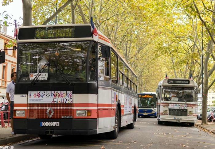 Journées du patrimoine 2018 - Mise en service commercial d'autobus de collection