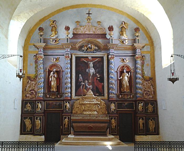Crédits image : Le retable de l'église de Saint-Louis à Montcabrier.