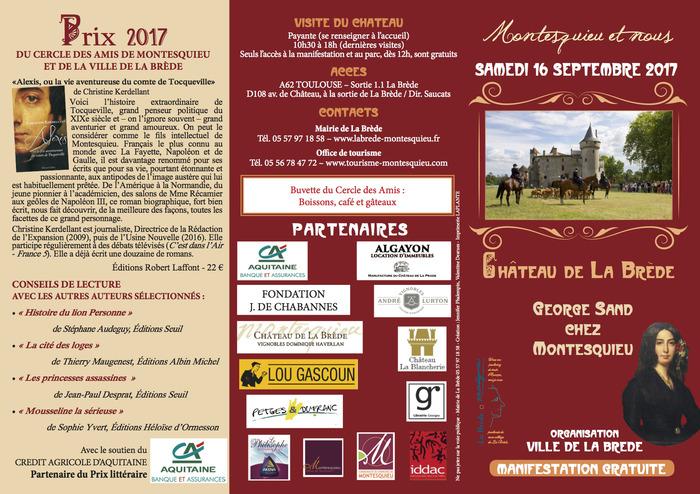 Journées du patrimoine 2017 - «Montesquieu et nous»