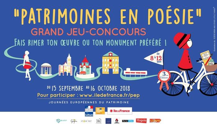 Journées du patrimoine 2018 - MUS en famille… atelier Patrimoines en poésie