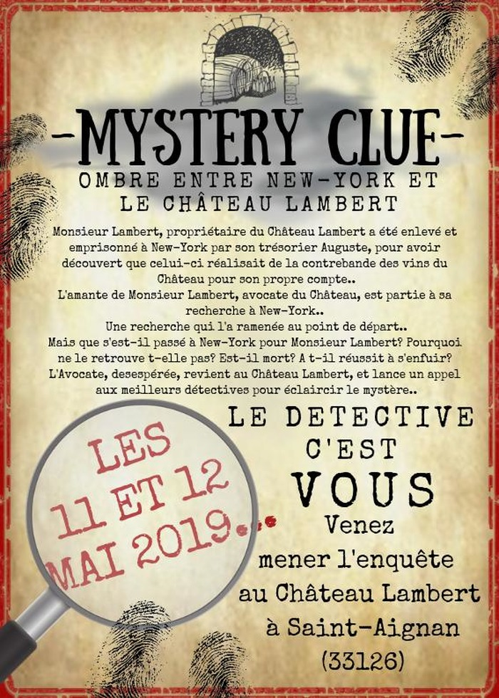 Mystery Clue au château Lambert