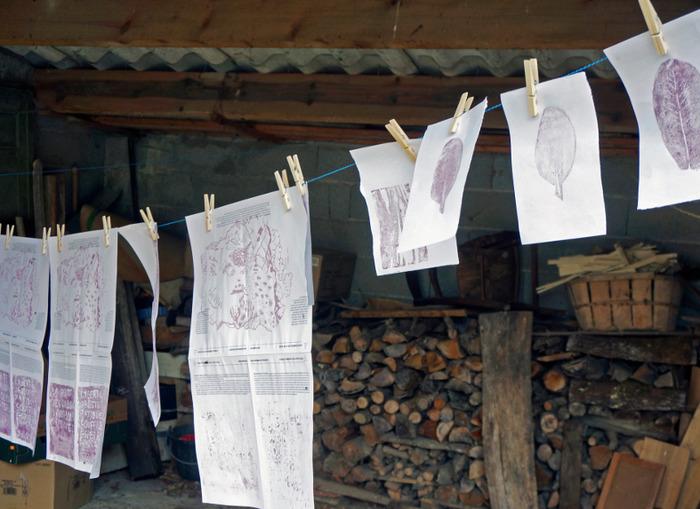 Journées du patrimoine 2018 - ŒNOGRAPHES - Atelier d'impression entre les vignes