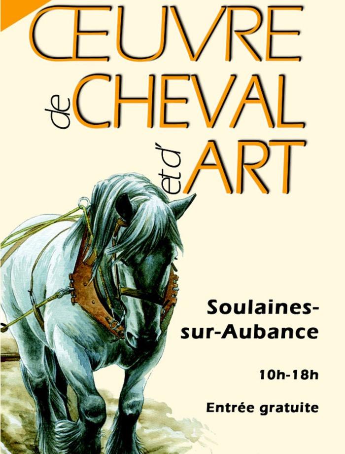 Oeuvre de cheval et d'art, à Soulaines sur Aubance (49)