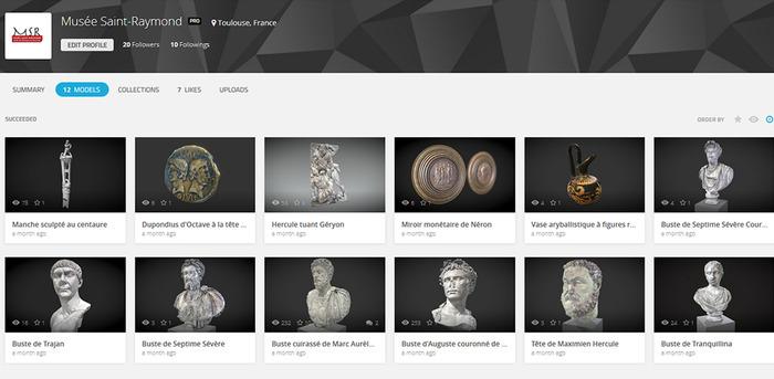 Journées du patrimoine 2017 - Oeuvres numérisées et impressions 3D
