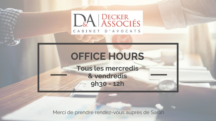 Office Hours - Decker & Associés