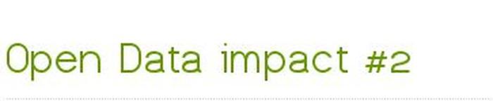 Open Data impact #2