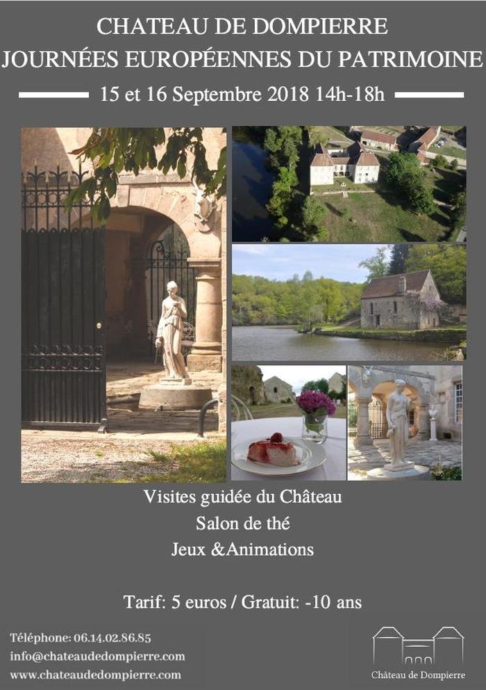 Journées du patrimoine 2018 - Ouverture du château de Dompierre