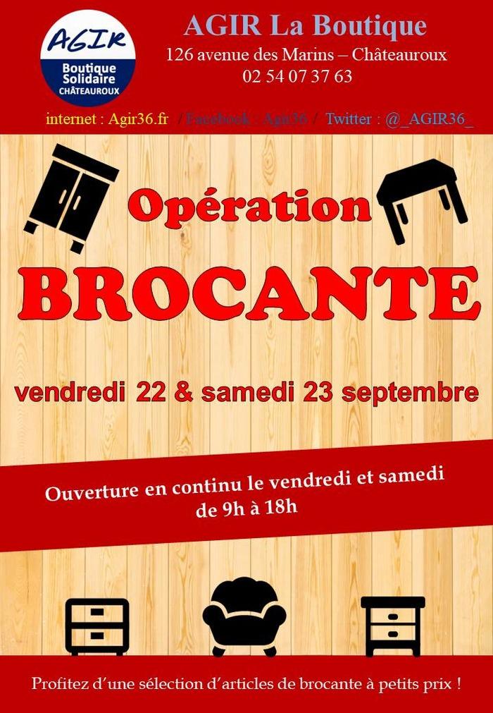 opération BROCANTE (Boutique Solidaire AGIR)