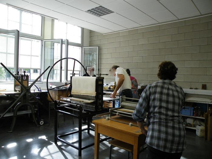 Journées du patrimoine 2018 - Ouverture d'un atelier de gravure.
