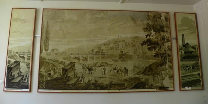 Journées du patrimoine 2017 - Venez admirer les papiers peints panoramiques de la maison forte.