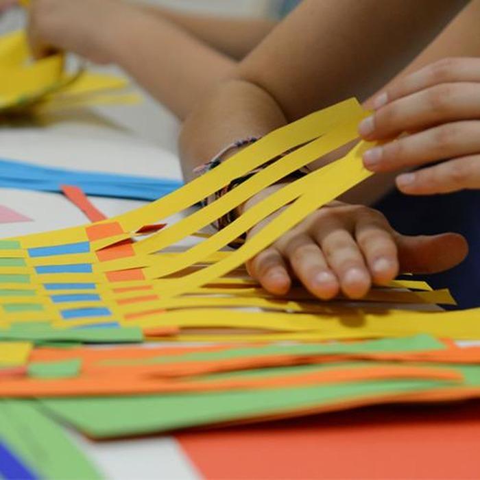 Journées du patrimoine 2018 - Papiers tissés / Atelier 5-7 ans
