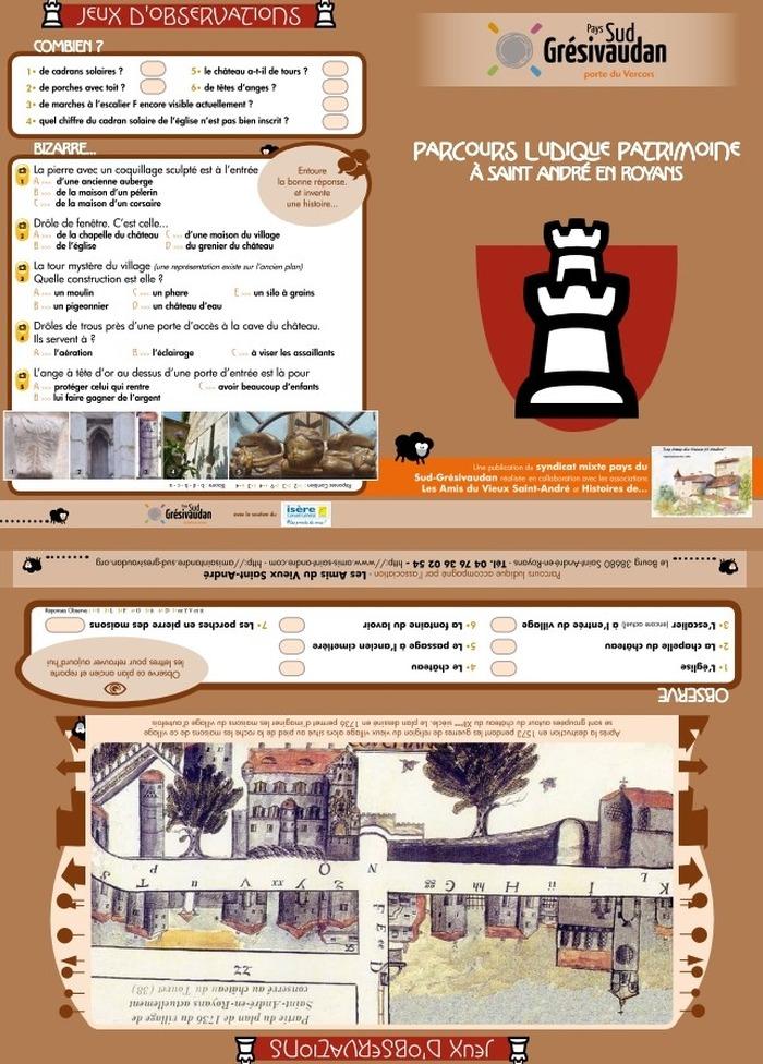 Journées du patrimoine 2018 - Parcours ludique et familial dans le village de Saint-André-en-Royans.