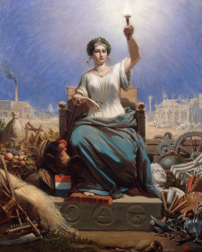 Crédits image : Ange-Louis Janet dit Janet-Lange, La République, huile sur toile, 1848, Musée Carnavalet, Paris © Musée Carnavalet/Roger-Viollet