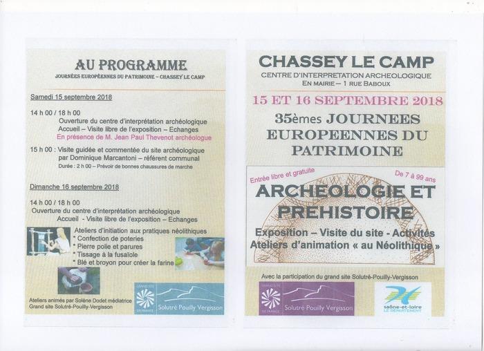 Journées du patrimoine 2018 - Un patrimoine archéologique d'exception à Chassey-le-Camp