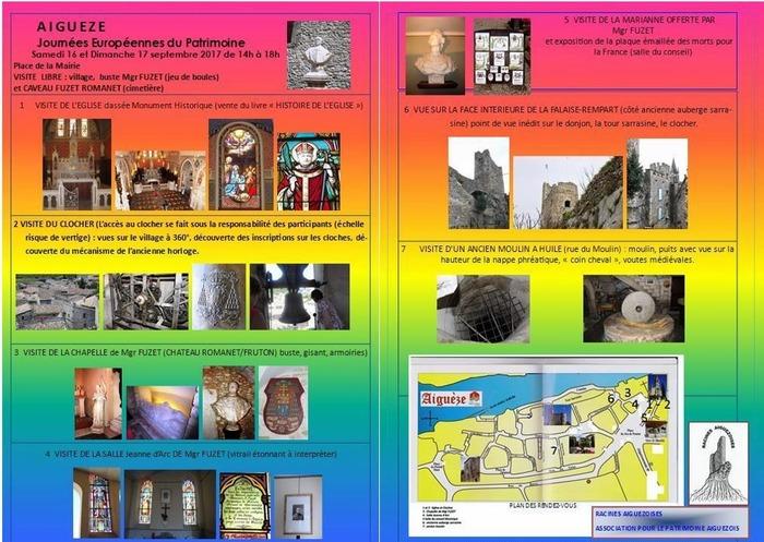 Journées du patrimoine 2017 - Patrimoine d'Aiguèze