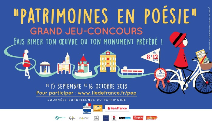 Journées du patrimoine 2018 - Jeu-Concours Patrimoines en Poésie
