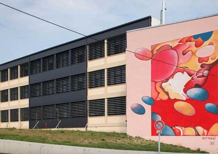 Journées du patrimoine 2018 - Peinture murale de 13 m x 10 m de Guillaume Bottazzi.
