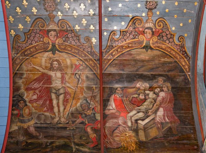 Journées du patrimoine 2018 - Peintures du plafond du choeur de l'église st-Méen