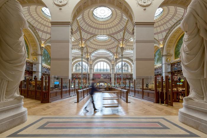 Crédits image : Vue de la bibliothèque de l'INHA - Salle Labrouste. copyright INHA, photo E. Groleau