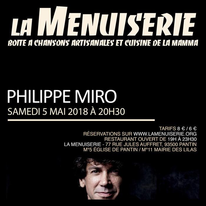 Philippe Miro à la Menuiserie