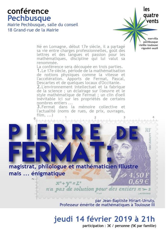Pierre de Fermat : mathématicien illustre mais...énigmatique