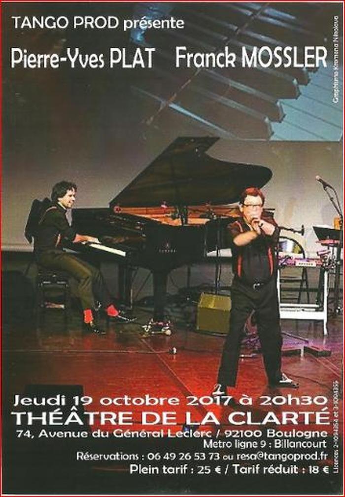 Pierre-Yves Plat et Franck Mossler au Théâtre de la Clarté