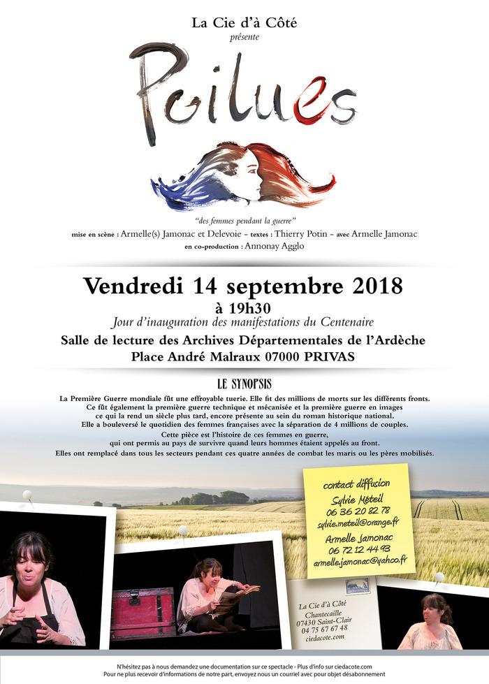Journées du patrimoine 2018 - Spectacle «PoiluEs de la Cie d'à Côté».
