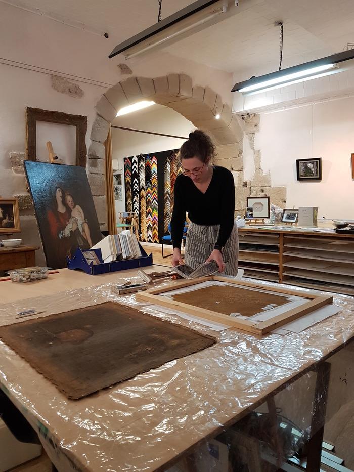 Journées du patrimoine 2018 - Portes ouvertes à l'atelier de restauration de tableaux.