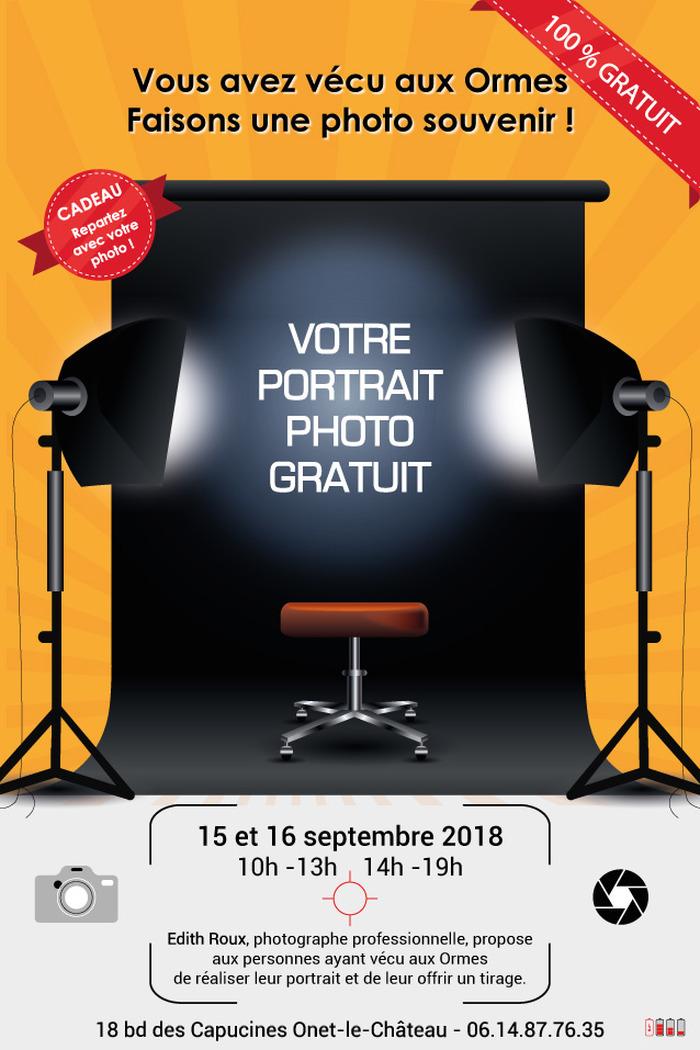 Journées du patrimoine 2018 - Atelier, démonstration, savoir-faire : Portrait des habitants du quartier des Ormes à Onet-le-Château