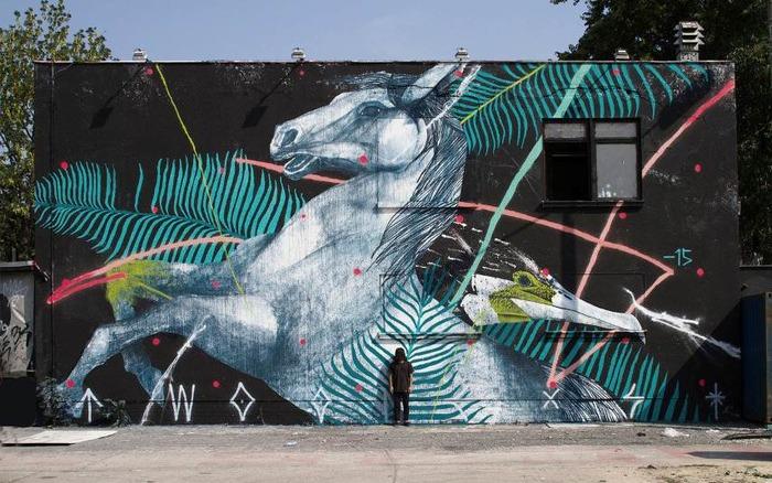 Journées du patrimoine 2018 - Creation d'une fresque par l'artiste Twoone
