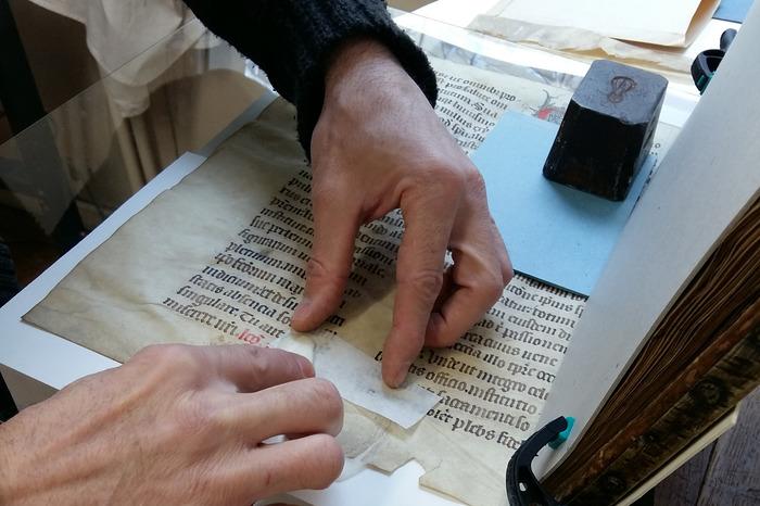 Journées du patrimoine 2018 - Présentation de l'atelier de restauration des documents précieux