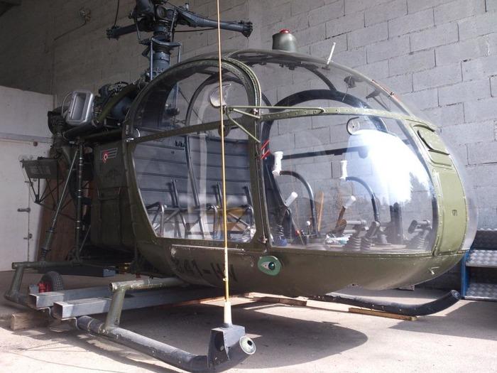 Journées du patrimoine 2018 - Présentation de l'Hélicoptère Alouette 2