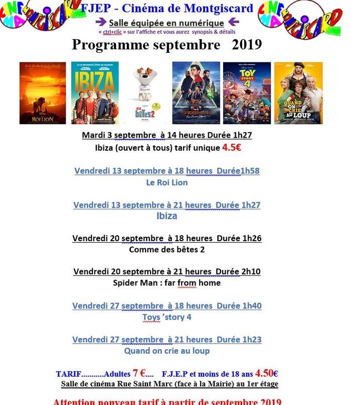 Programme cinéma de Montgiscard