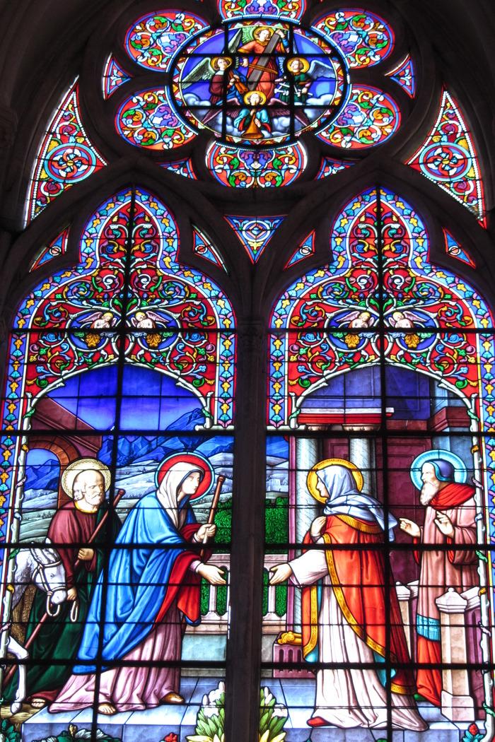 Journées du patrimoine 2018 - Projection d'un diaporama sur les vitraux du choeur de la basilique