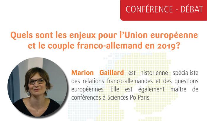 Quels enjeux pour l'UE et le couple franco-allemand en 2019 ?