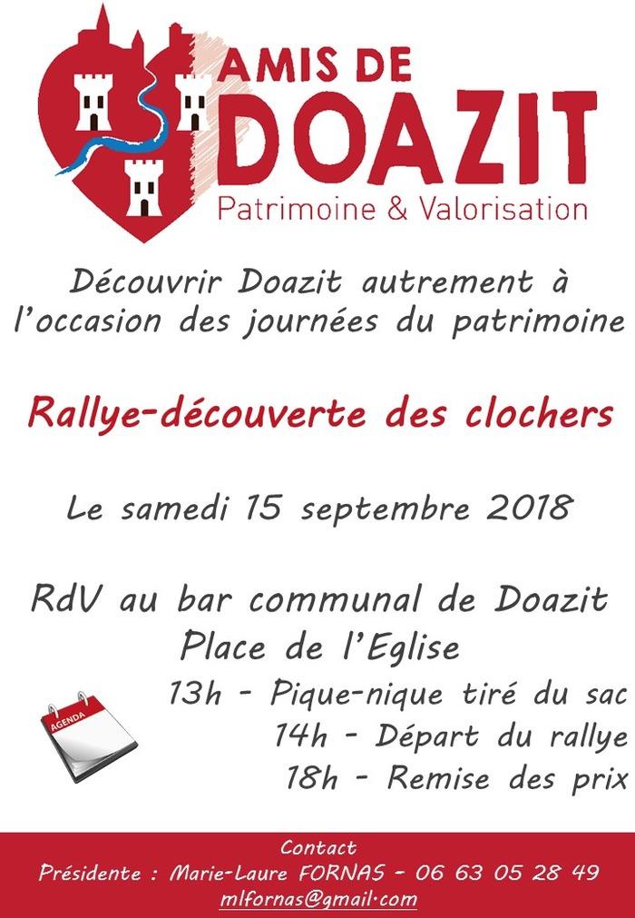 Journées du patrimoine 2018 - Rallye-découverte des clochers à Doazit