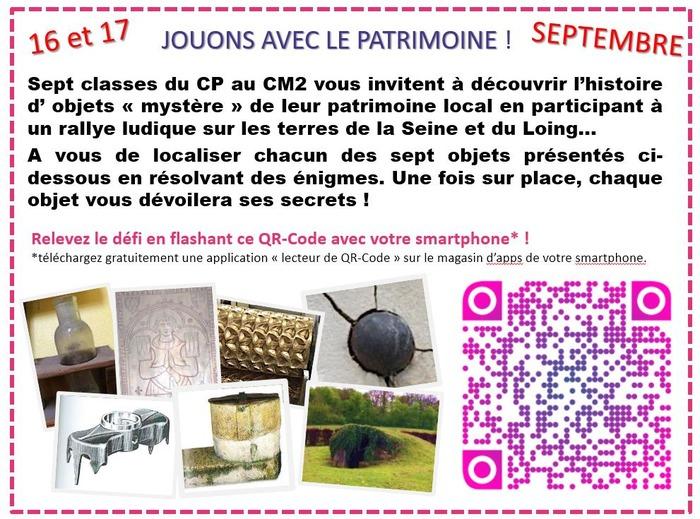 Journées du patrimoine 2017 - Rallye du patrimoine