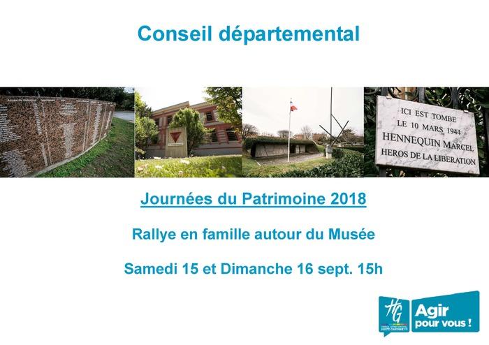 Journées du patrimoine 2018 - Rallye en famille autour du musée