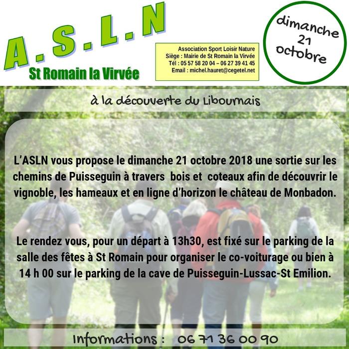 Randonnée avec l'ASLN