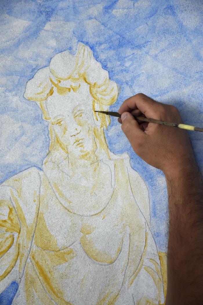 Crédits image : Visuel réalisation de fresques - Photographie : Maison de l'Outil et de la Pensée Ouvrière