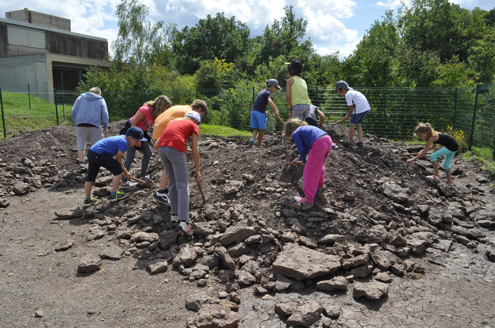 Journées du patrimoine 2018 - Atelier «Recherche de fossiles».