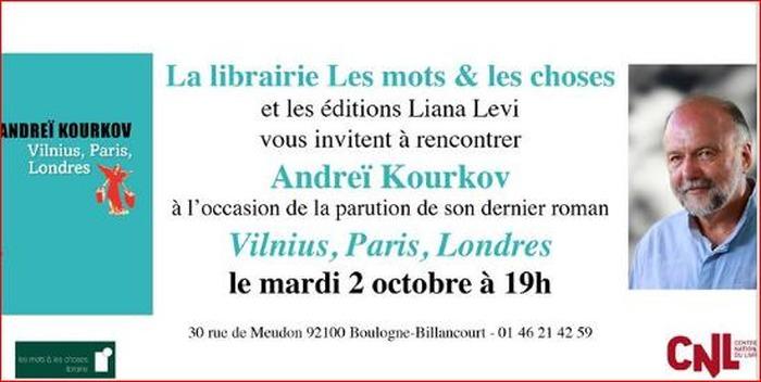 Rencontre avec Andrei Kourkov à la librairie Les Mots et les Choses