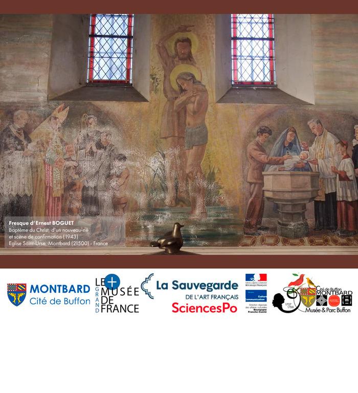 Journées du patrimoine 2018 - Rencontre avec les restaurateurs Jean-Rémy Brigand et découverte de la peinture murale d'Ernest Boguet restaurée de l'Église Saint-Urse