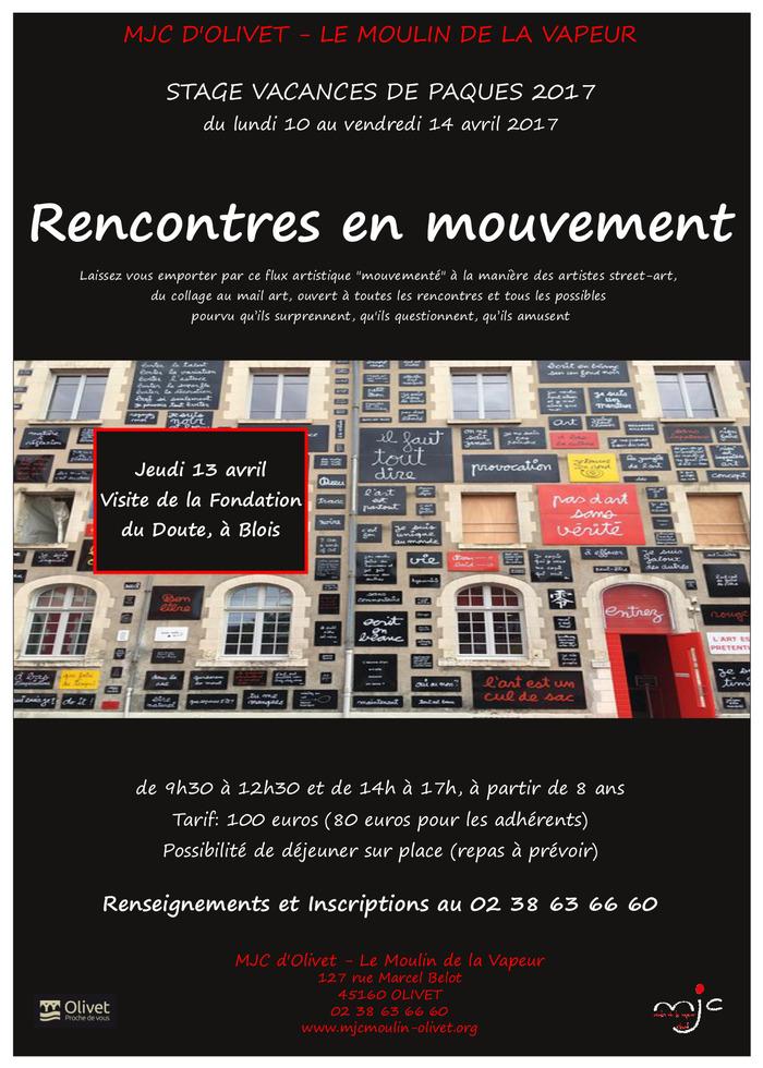 Rencontres en mouvement stage des vacances de p ques 2017 du 10 au 14 avril - Mouvement en architecture ...